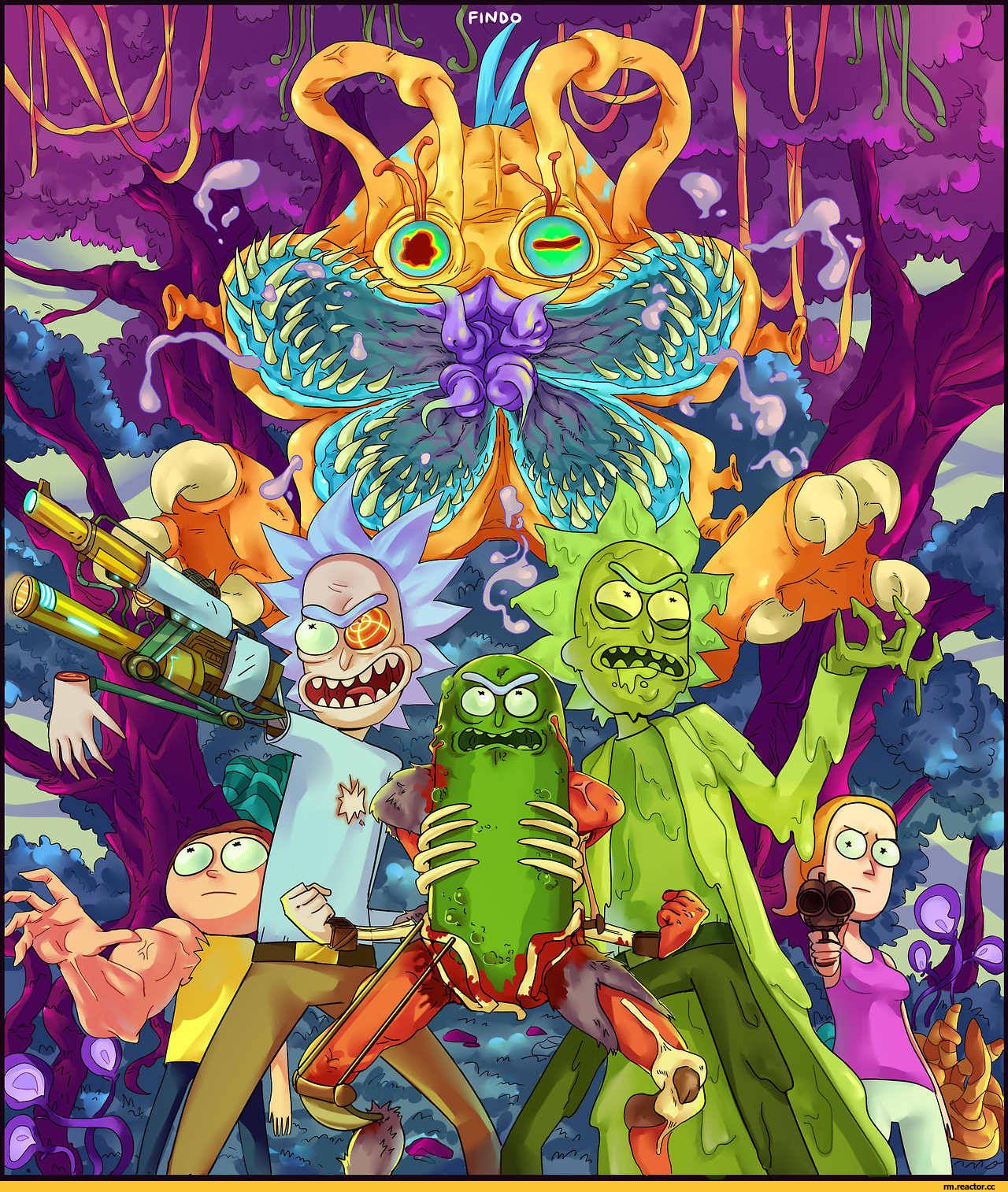 rick and morty wallpaper_iphone