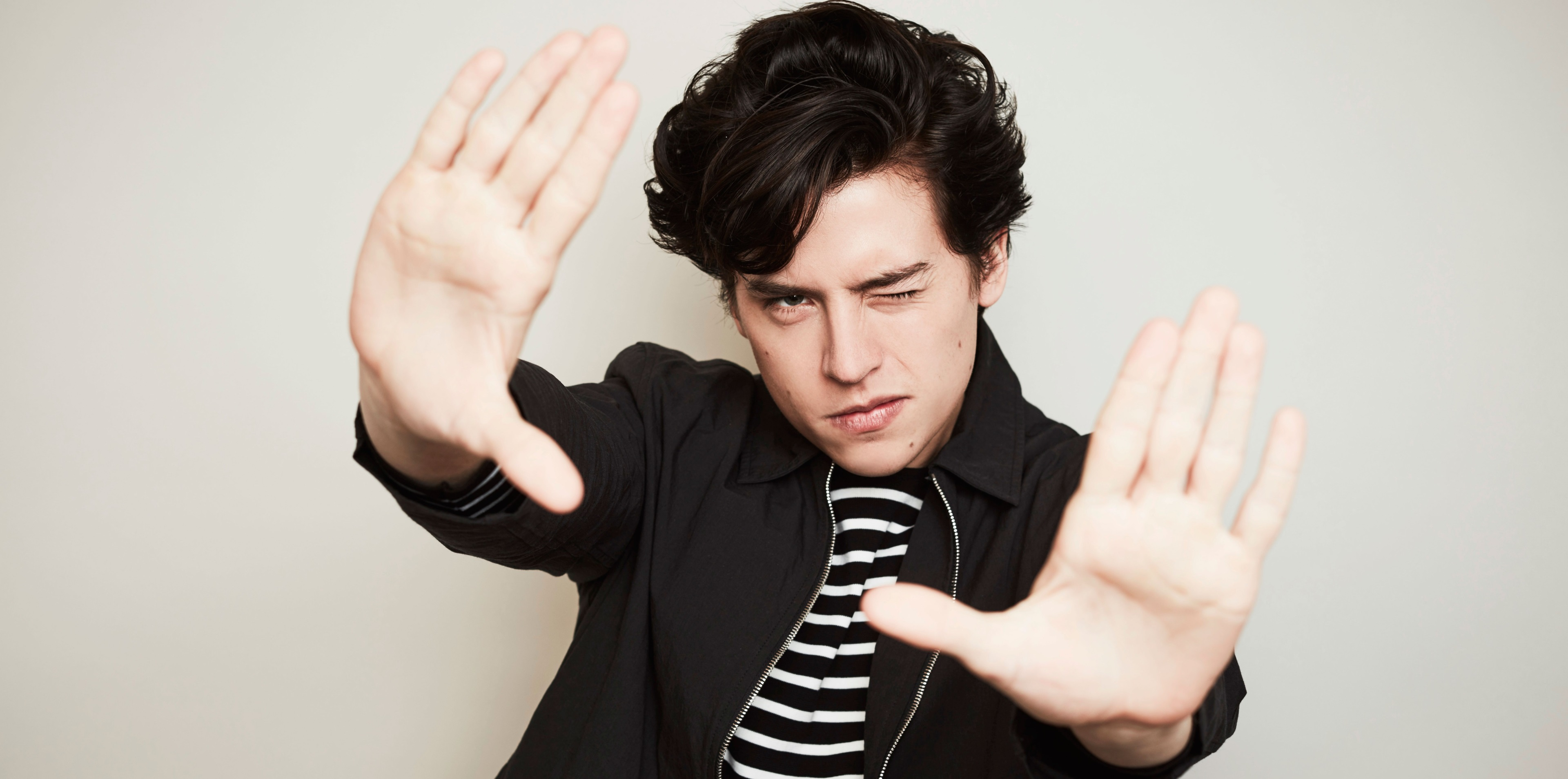 Cole Sprouse_black hair
