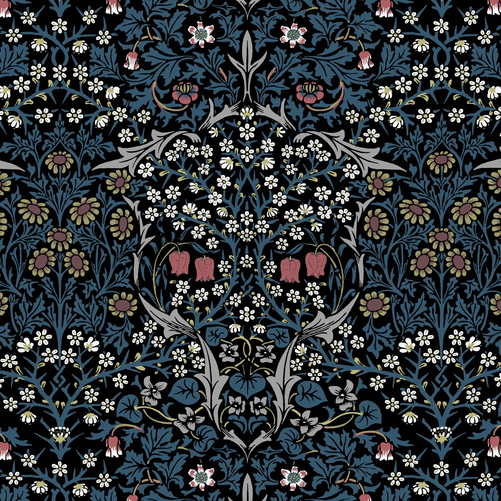 william morris_blue