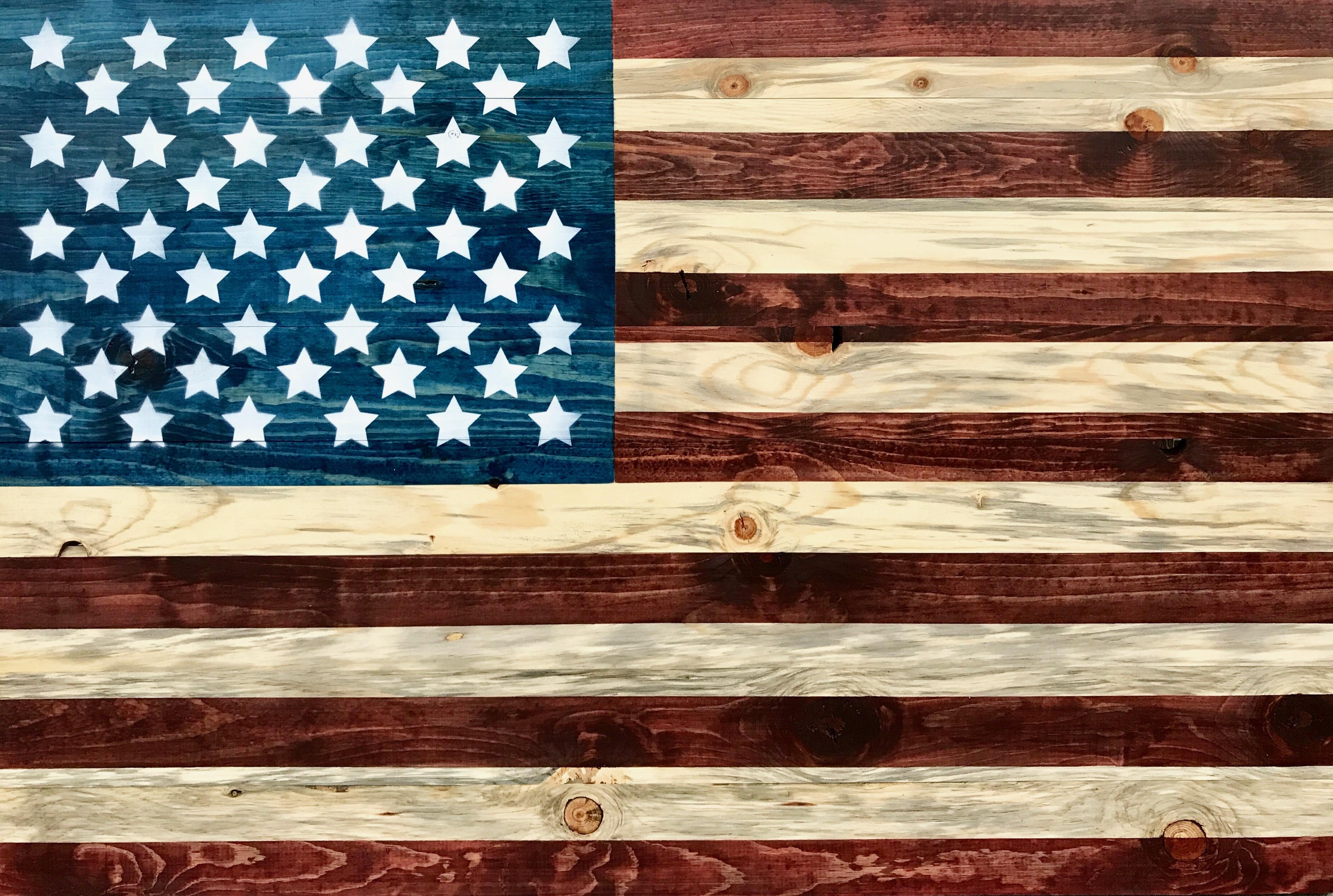 american flag_rustic